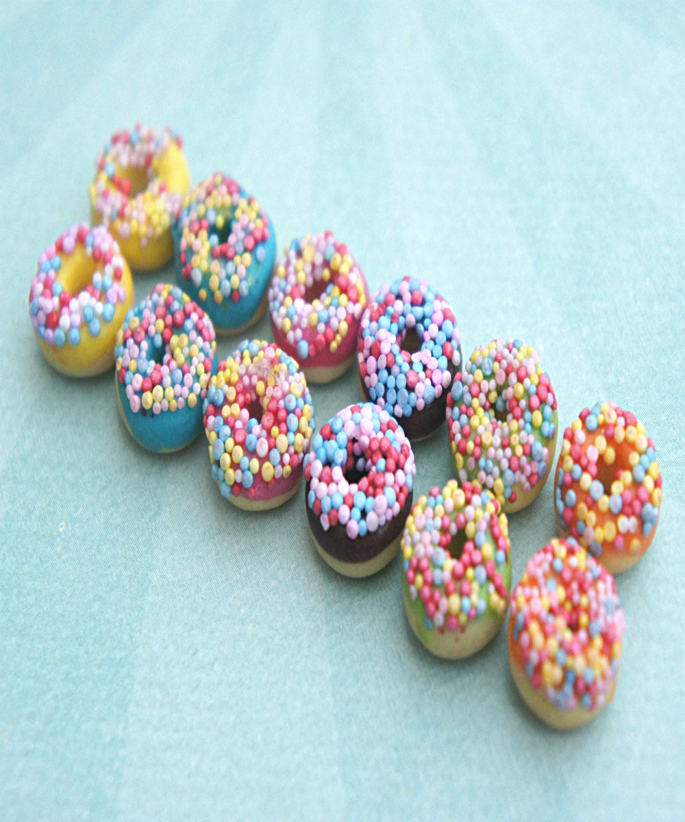 Candy Sprinkle Donut Earrings - Jillicious charms and accessories - 1