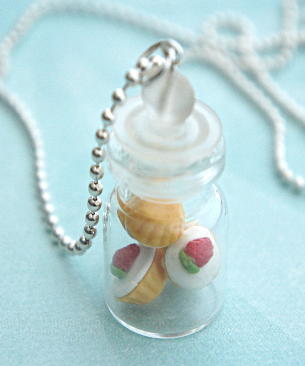 Strawberry Cupcakes in a Jar Necklace - Jillicious charms and accessories - 3