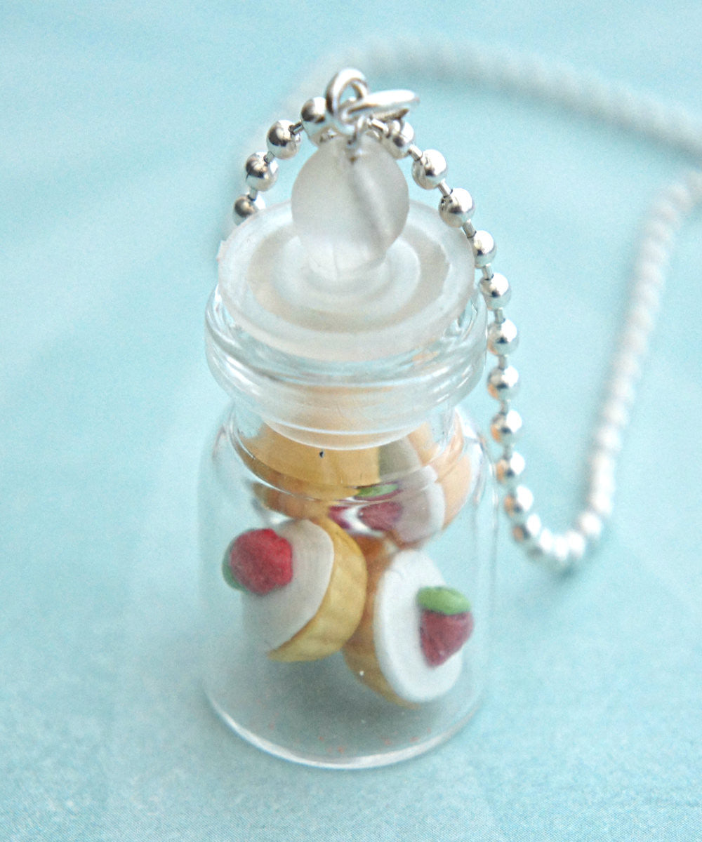 Strawberry Cupcakes in a Jar Necklace - Jillicious charms and accessories - 2
