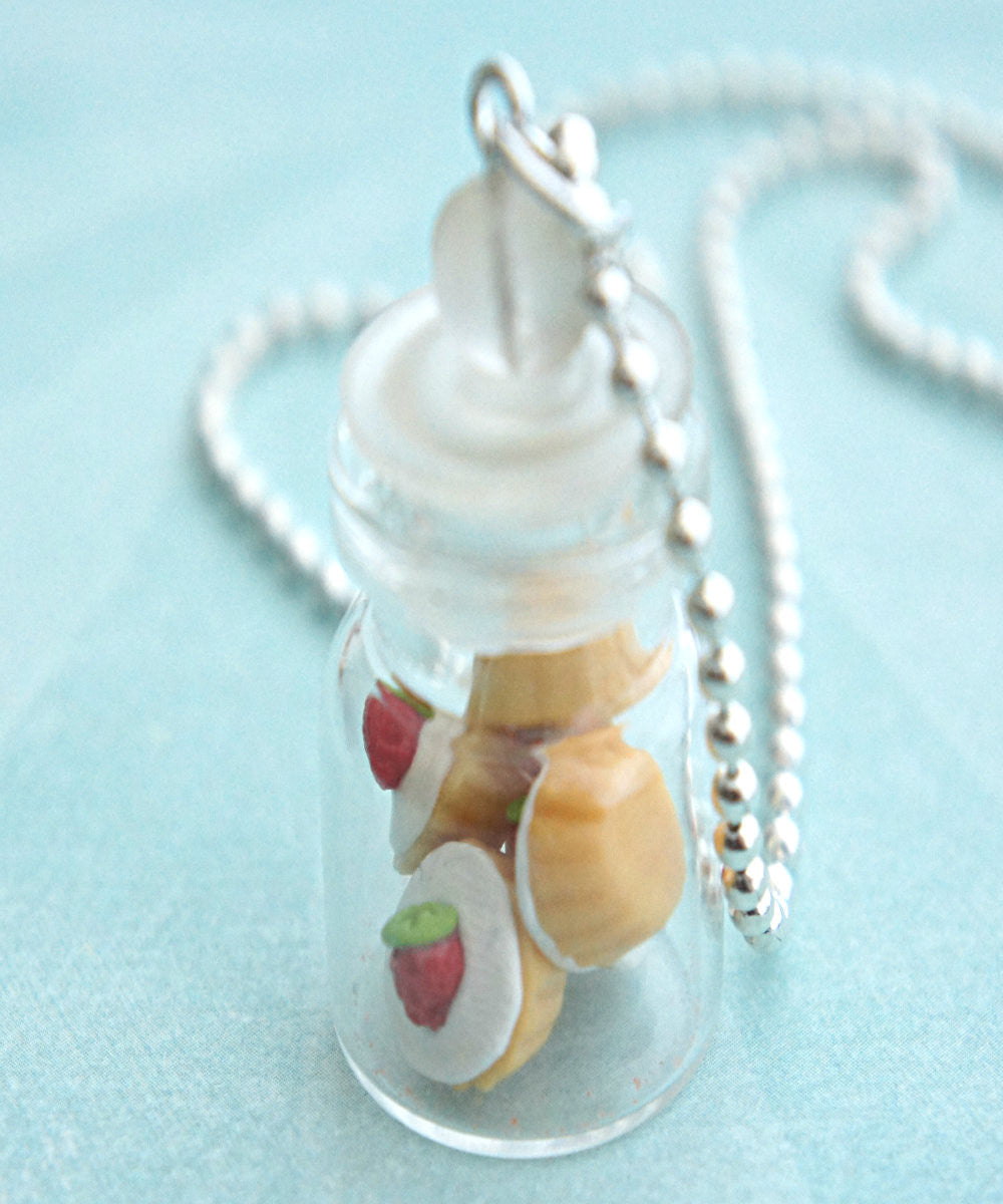 Strawberry Cupcakes in a Jar Necklace - Jillicious charms and accessories - 1