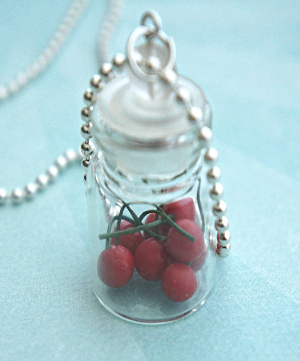 cherries in a jar necklace - Jillicious charms and accessories