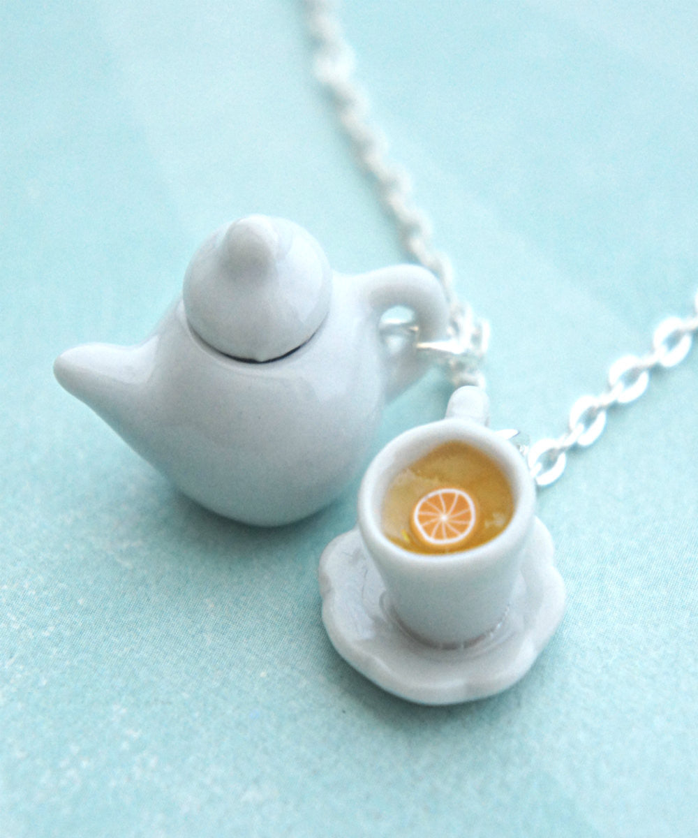 Tea Set Necklace - Jillicious charms and accessories - 1