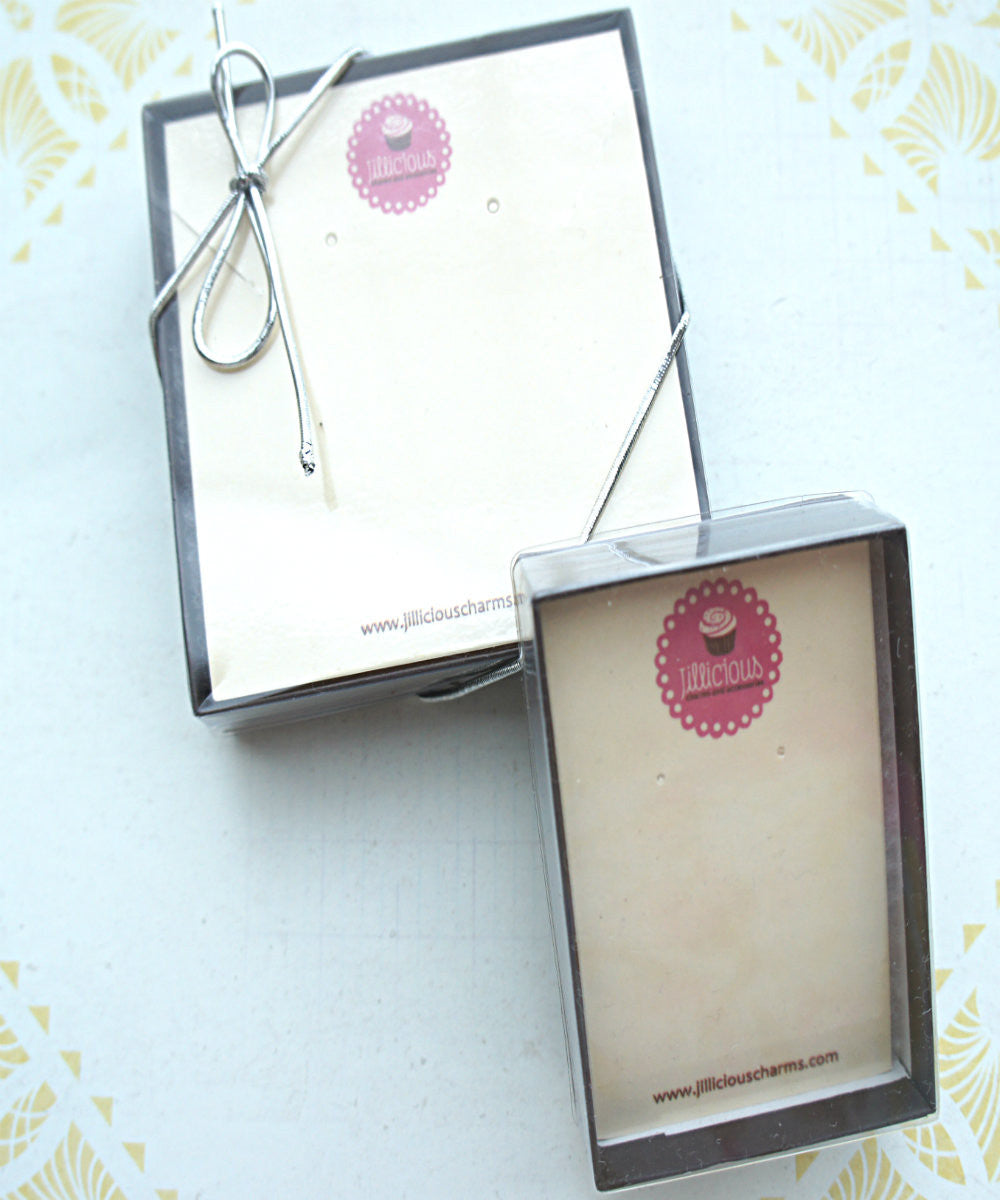 White Chocolate Raspberry Cheesecake Dangle Earrings - Jillicious charms and accessories - 5