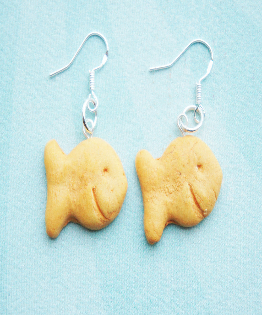 goldfish crackers earrings - Jillicious charms and accessories - 1