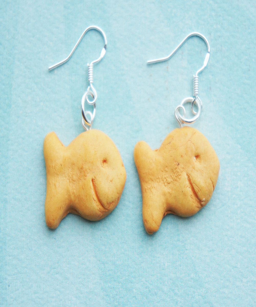 Goldfish Crackers Earrings - Jillicious charms and accessories