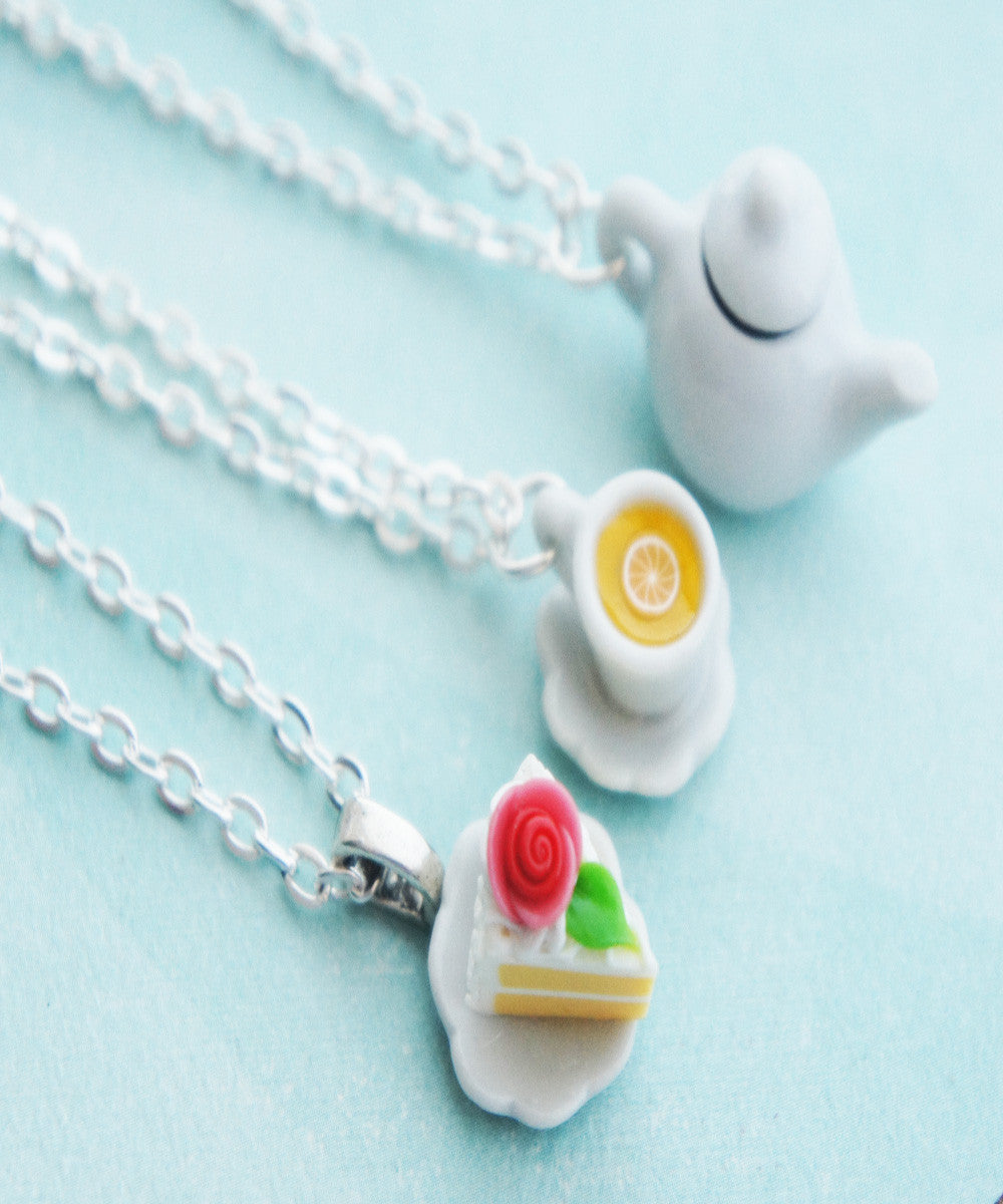 Tea Party Friendship Necklace Set - Jillicious charms and accessories