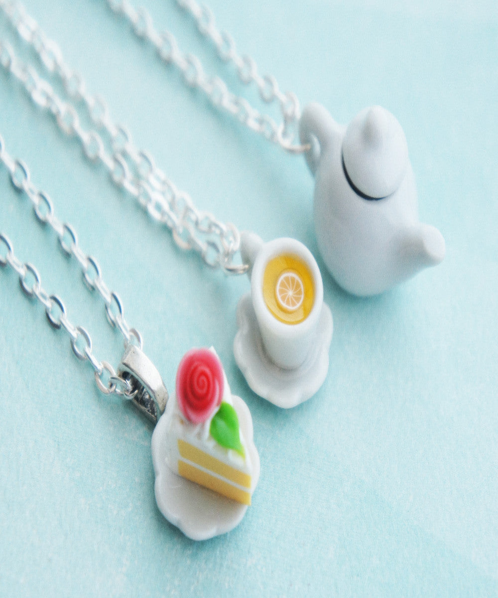 Tea Party Friendship Necklace Set - Jillicious charms and accessories - 2