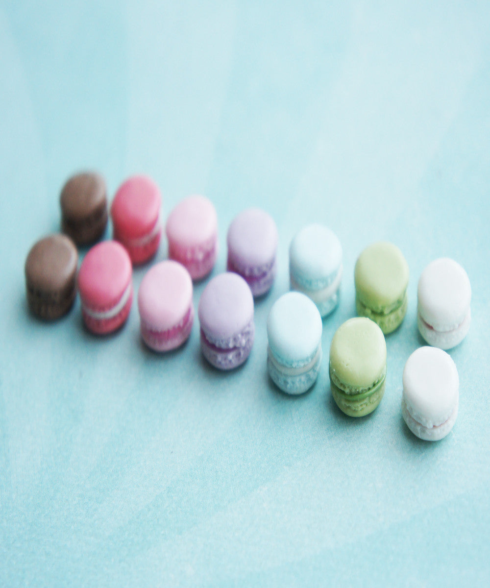 french macaron stud earrings (1 cm) - Jillicious charms and accessories - 1