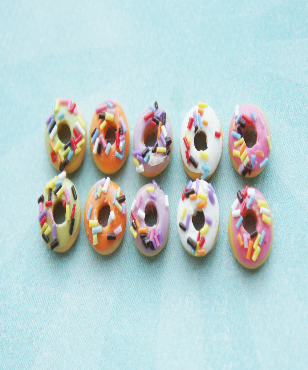 Sprinkle Donut Stud Earrings - Jillicious charms and accessories - 1