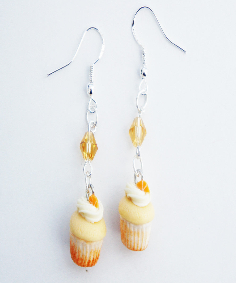 Orange Creamsicle Cupcakes Dangle Earrings - Jillicious charms and accessories