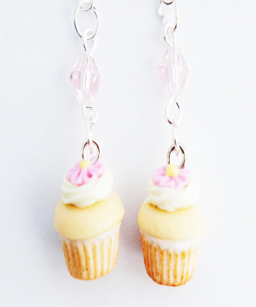 Vanilla Bean Cupcakes Dangle Earrings - Jillicious charms and accessories - 1