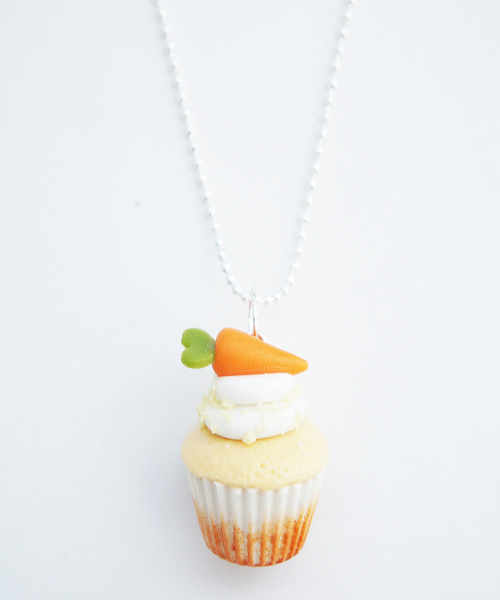 carrot cupcake necklace - Jillicious charms and accessories