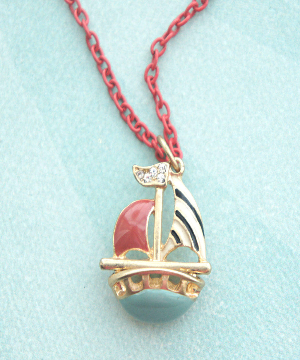 Sailboat Necklace - Jillicious charms and accessories - 1