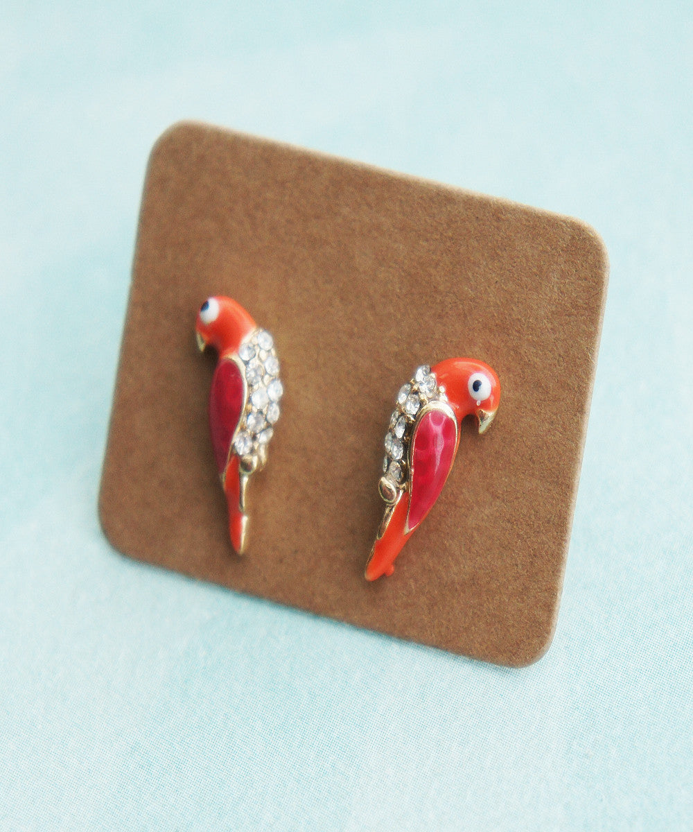 Parrot Earrings - Jillicious charms and accessories - 2