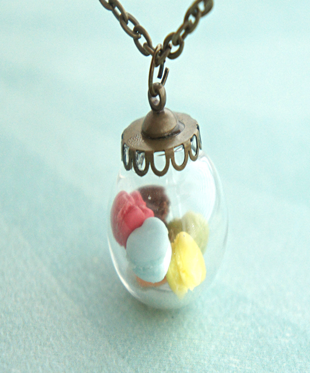 french macaron hearts necklace - Jillicious charms and accessories