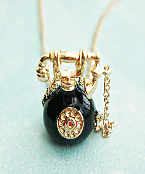 Vintage Telephone Necklace - Jillicious charms and accessories