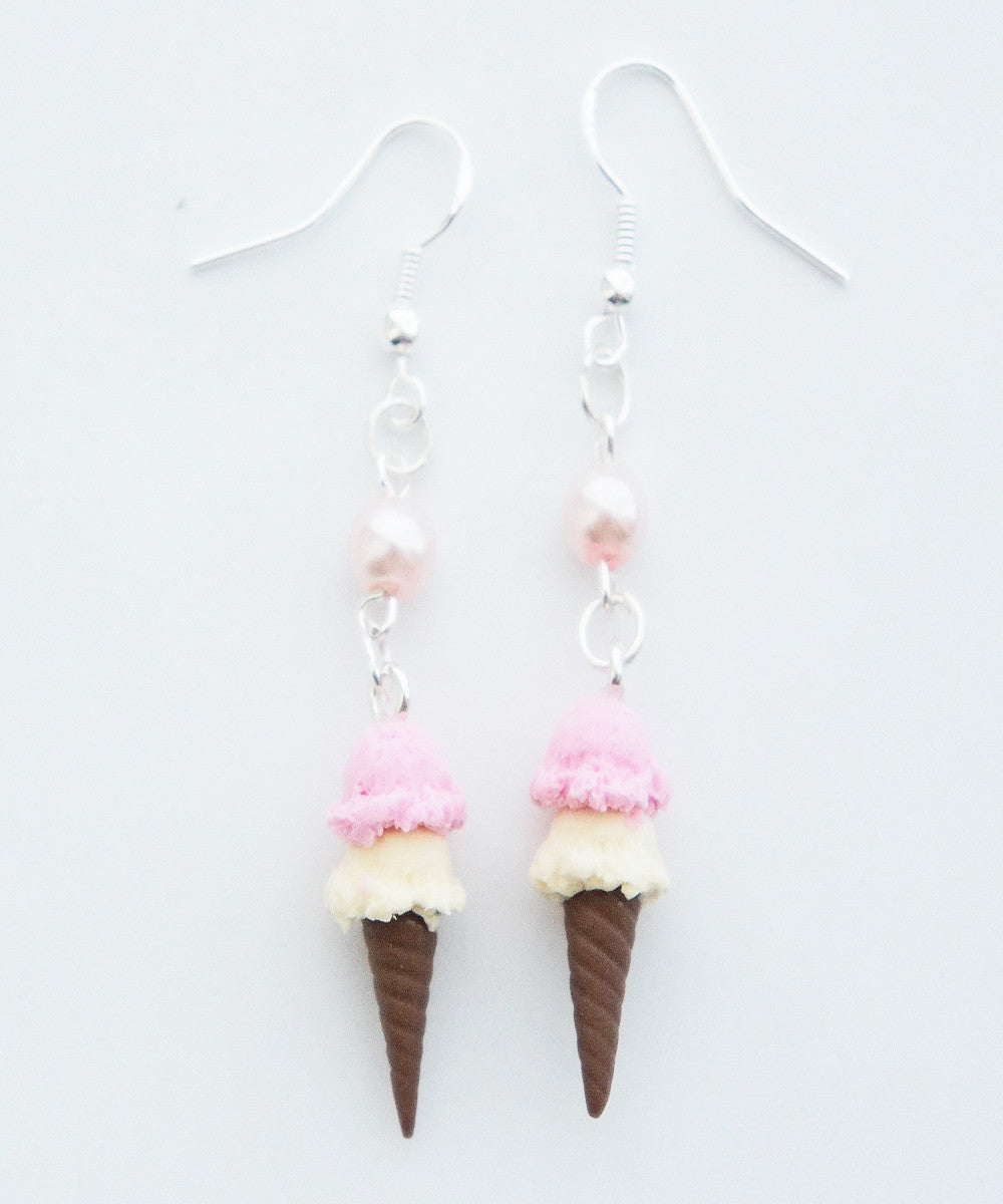 ice cream cone earrings - Jillicious charms and accessories - 2