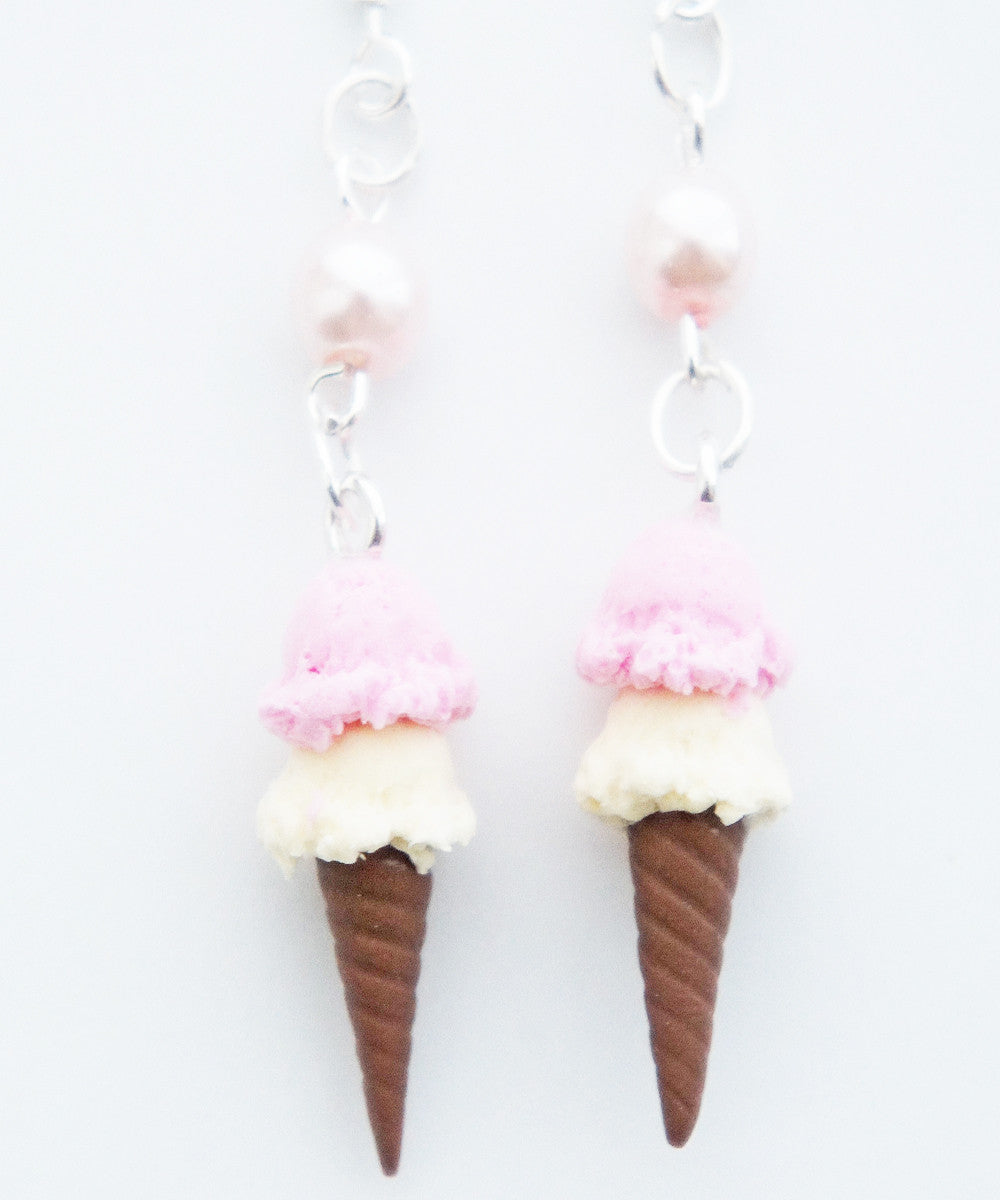 ice cream cone earrings - Jillicious charms and accessories - 1