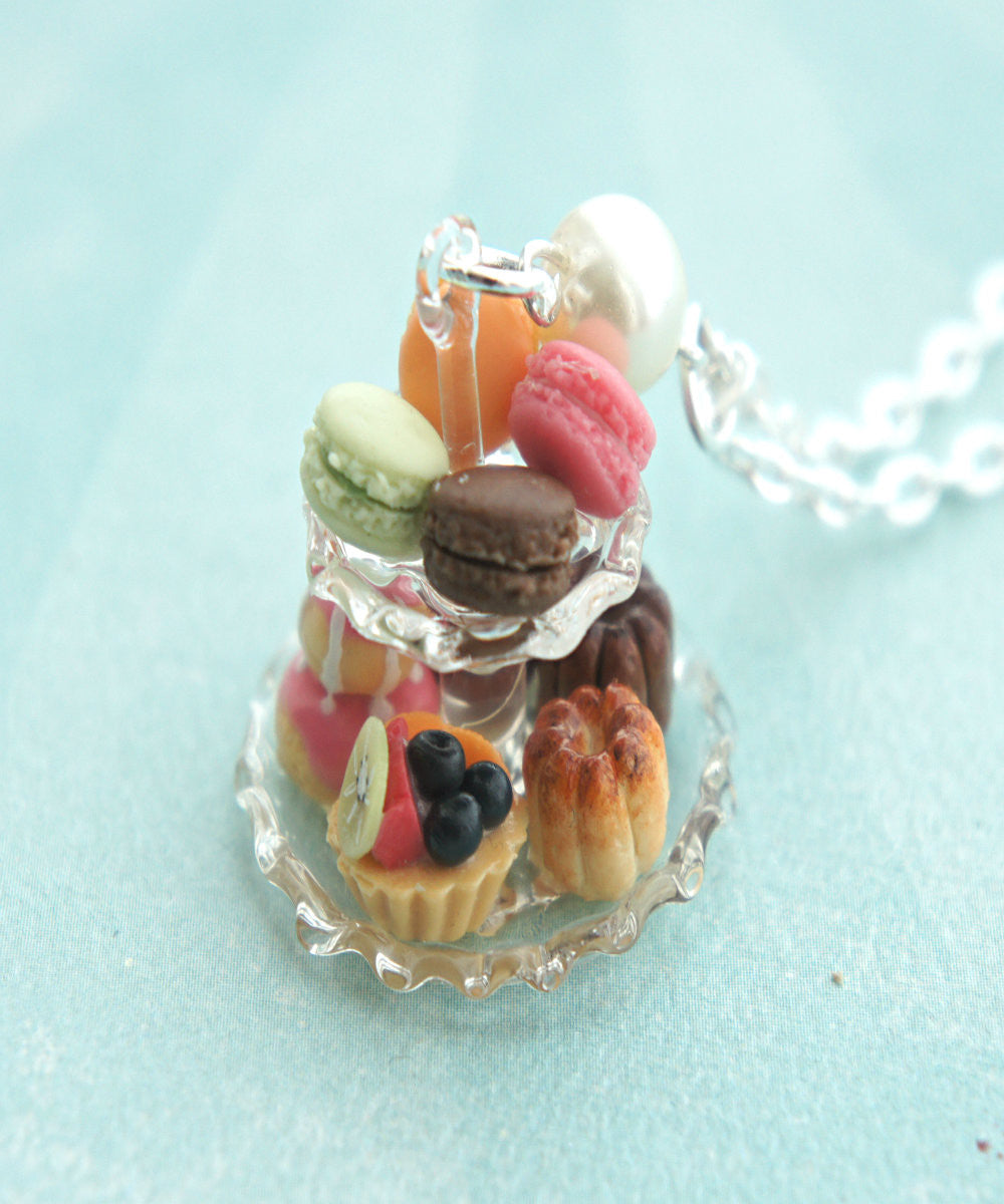 french pastries necklace - Jillicious charms and accessories - 1