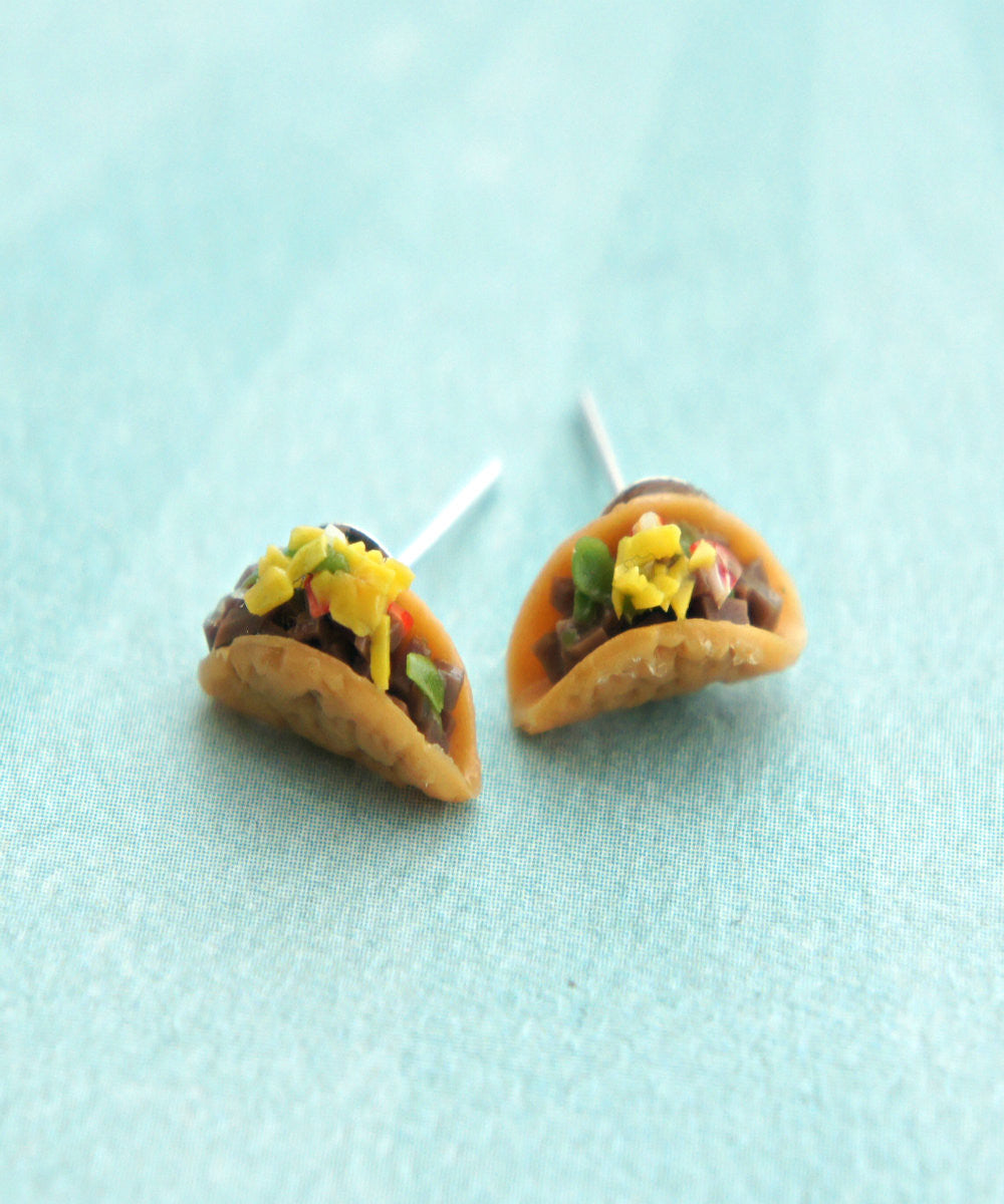 Tacos Stud Earrings - Jillicious charms and accessories - 2