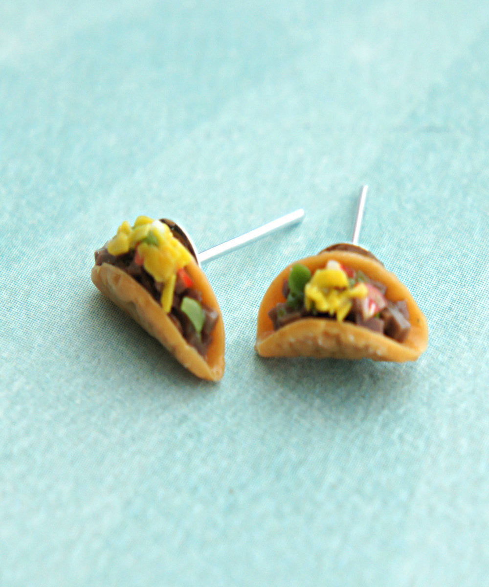 Tacos Stud Earrings - Jillicious charms and accessories - 3