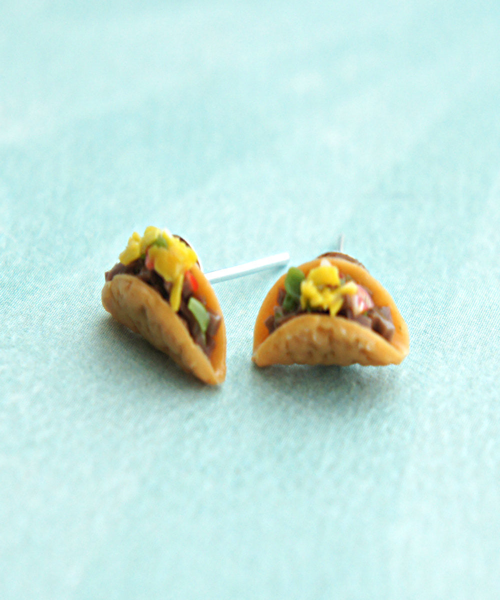 Tacos Stud Earrings - Jillicious charms and accessories - 1