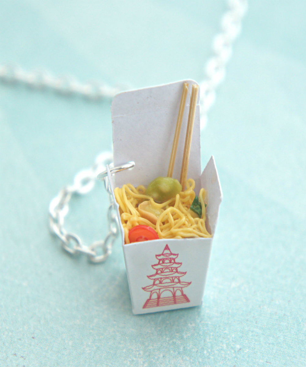 chow mein noodles necklace - Jillicious charms and accessories