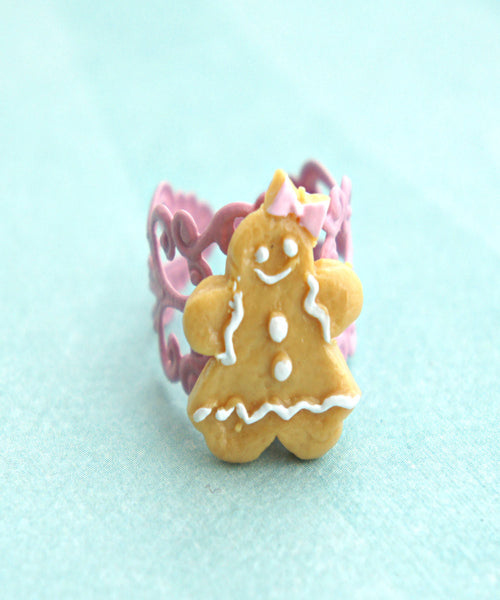 gingerbread cookie ring - Jillicious charms and accessories