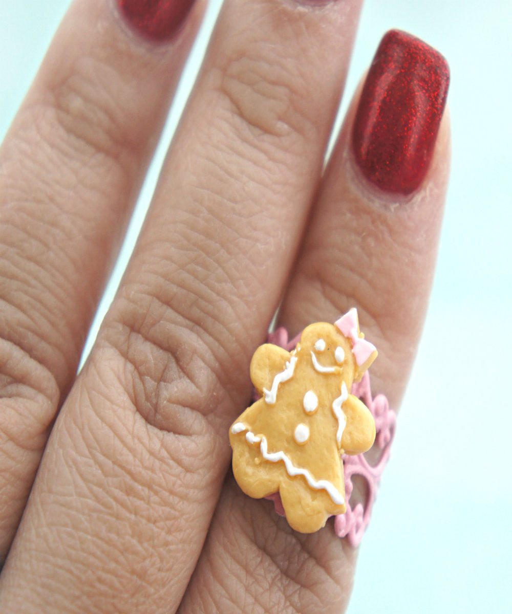 gingerbread cookie ring - Jillicious charms and accessories - 2