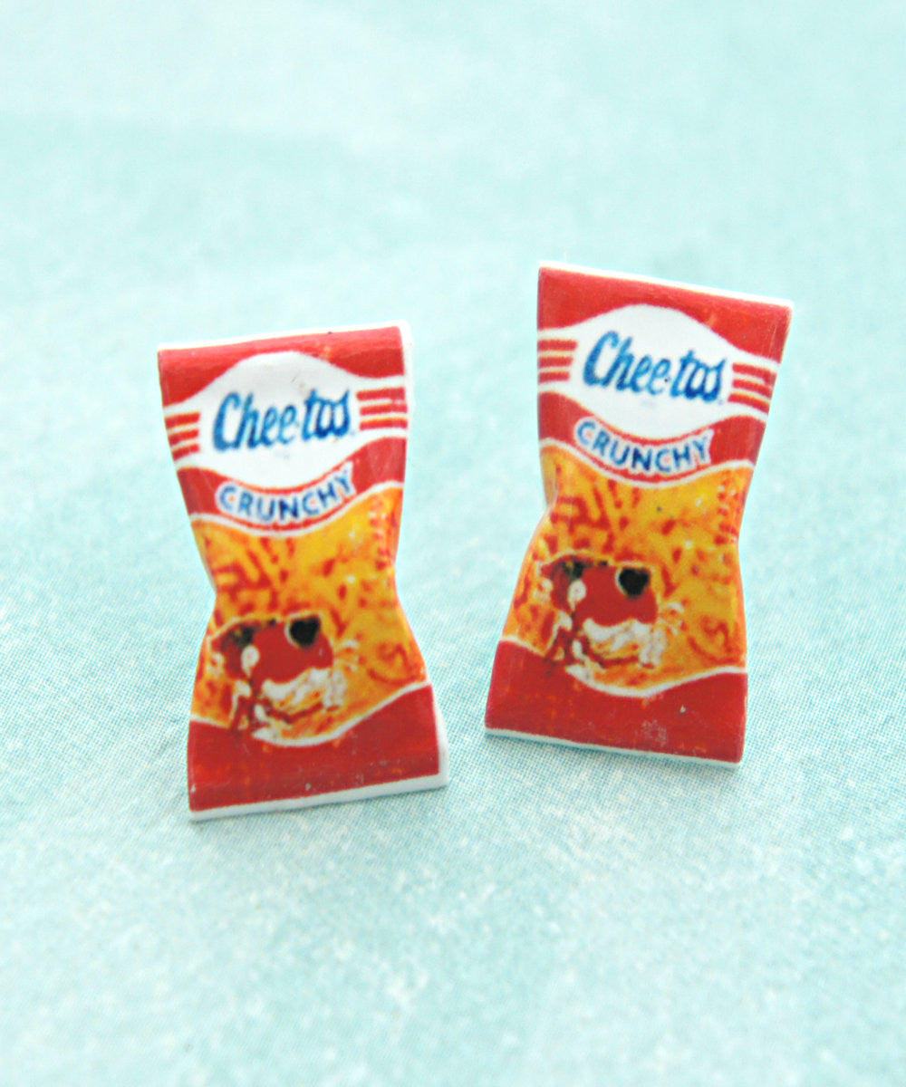 Vintage Cheetos Crunchy Stud Earrings - Jillicious charms and accessories - 3
