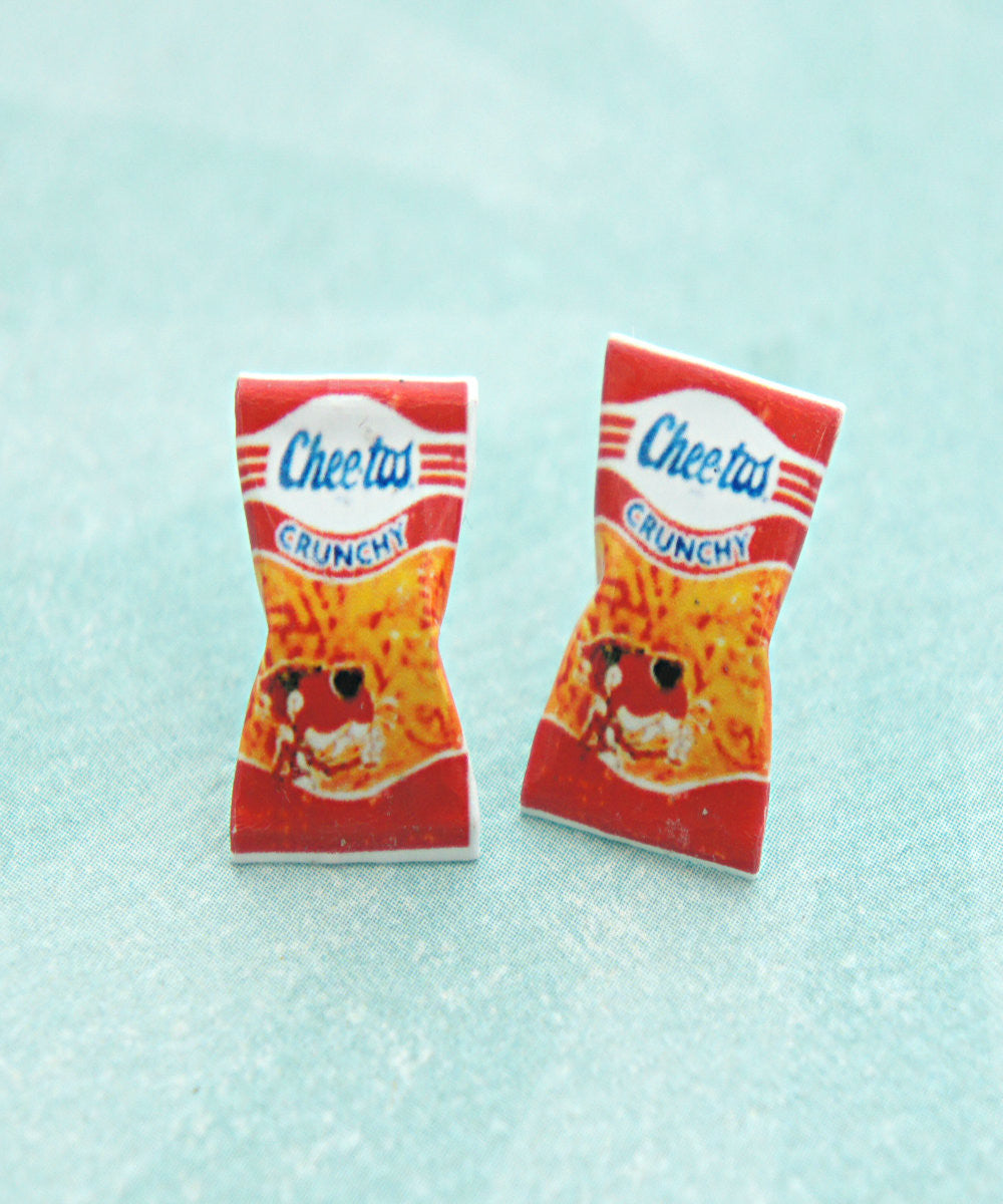 Vintage Cheetos Crunchy Stud Earrings - Jillicious charms and accessories - 2