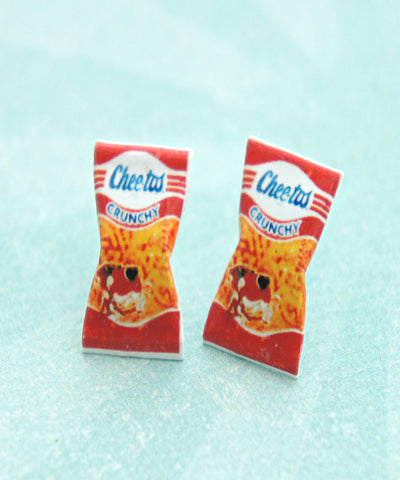 Vintage Cheetos Crunchy Stud Earrings - Jillicious charms and accessories - 1