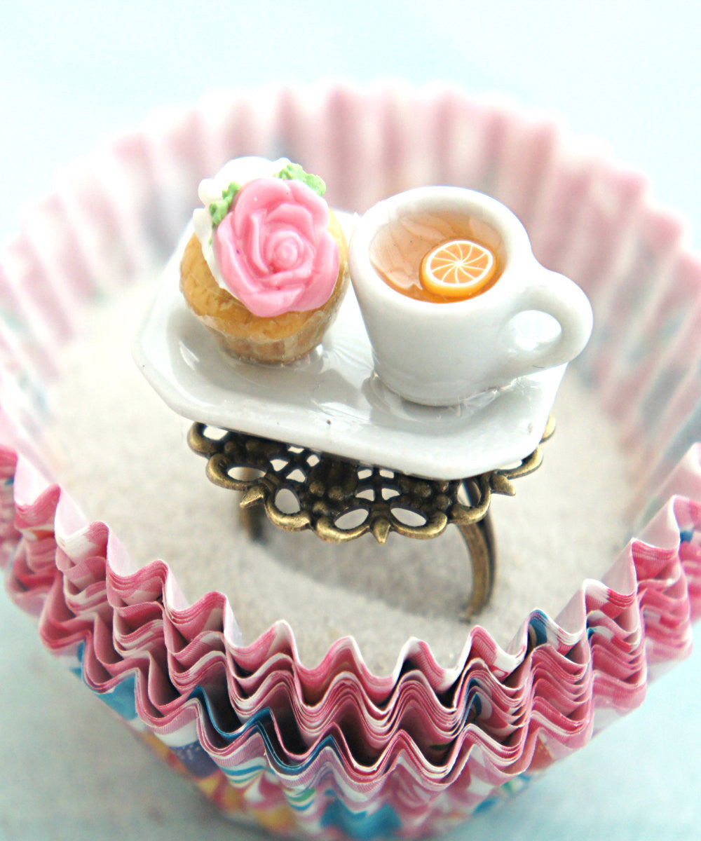 rose cupcake and tea ring - Jillicious charms and accessories - 2