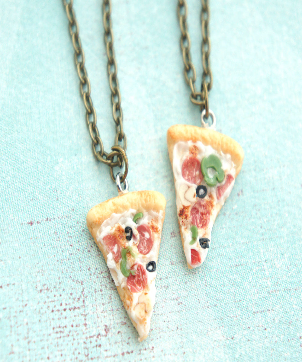 Supreme Pizza Friendship Necklace Set - Jillicious charms and accessories - 2