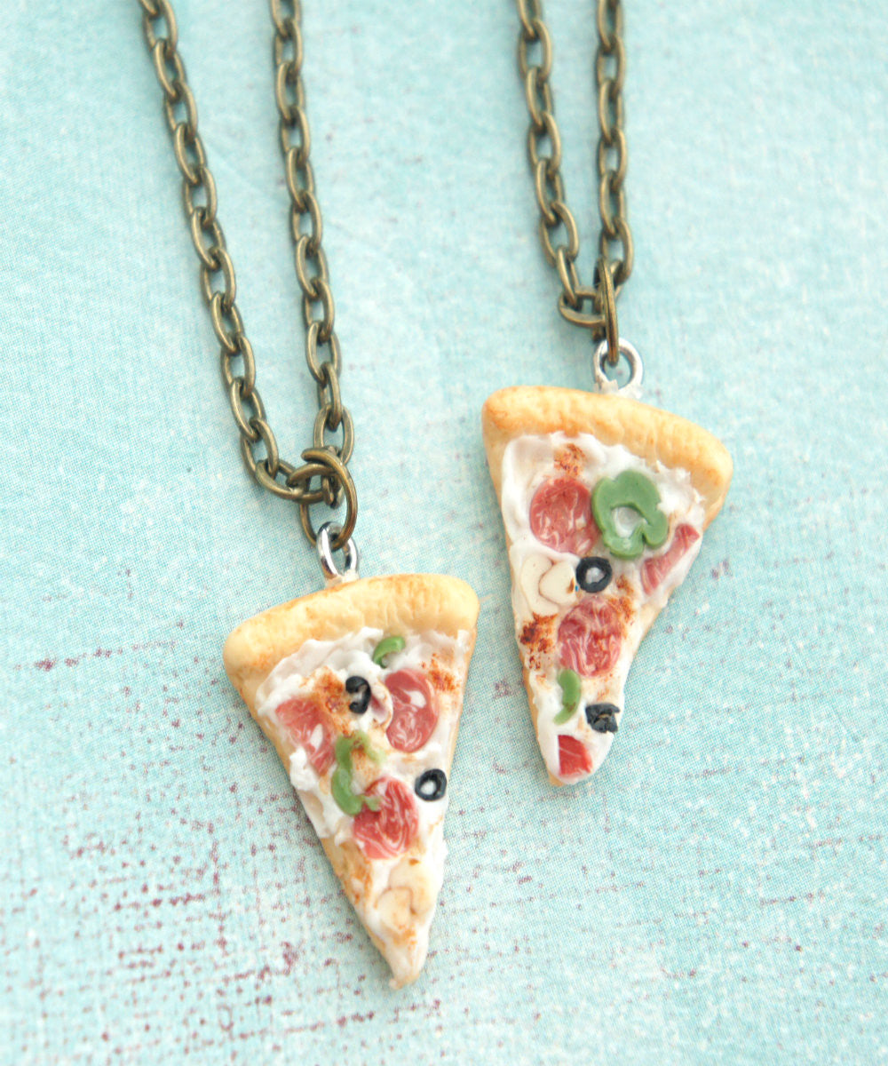 Supreme Pizza Friendship Necklace Set - Jillicious charms and accessories - 1