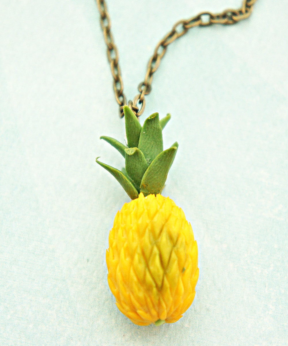 Pineapple Necklace - Jillicious charms and accessories
