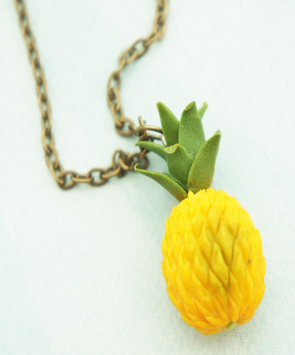 pineapple necklace - Jillicious charms and accessories - 1