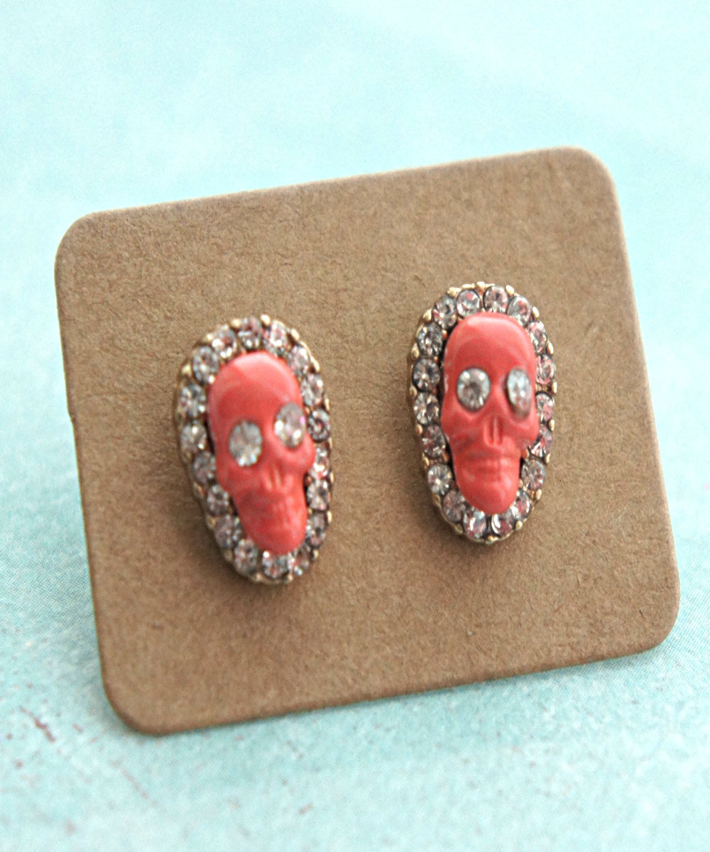 Skull Stud Earrings - Jillicious charms and accessories
