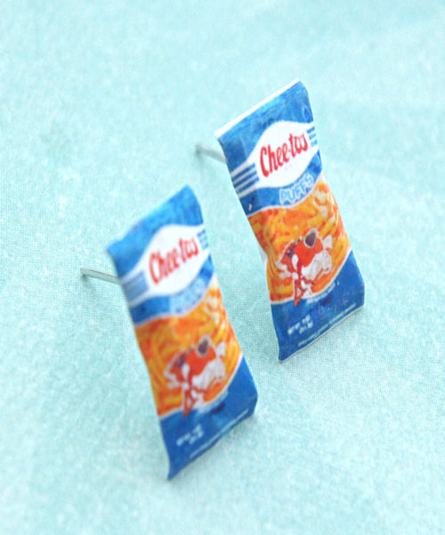 Vintage Cheetos Puffs Earrings - Jillicious charms and accessories - 1
