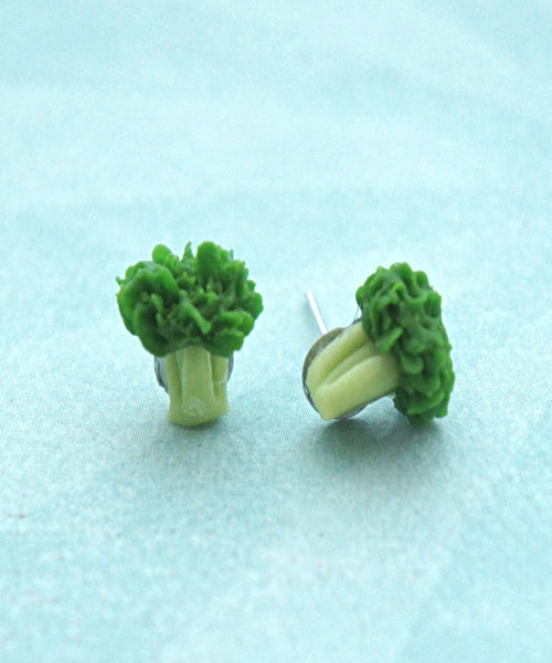 Broccoli Stud Earrings - Jillicious charms and accessories - 1
