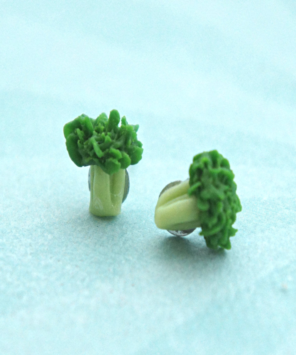 Broccoli Stud Earrings - Jillicious charms and accessories - 3
