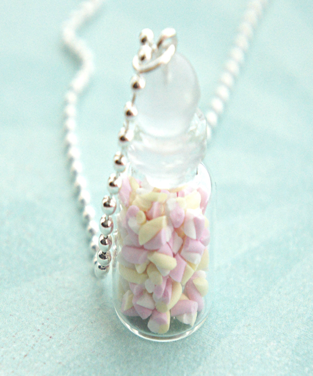 Marshmallow Bites in a Jar Necklace - Jillicious charms and accessories