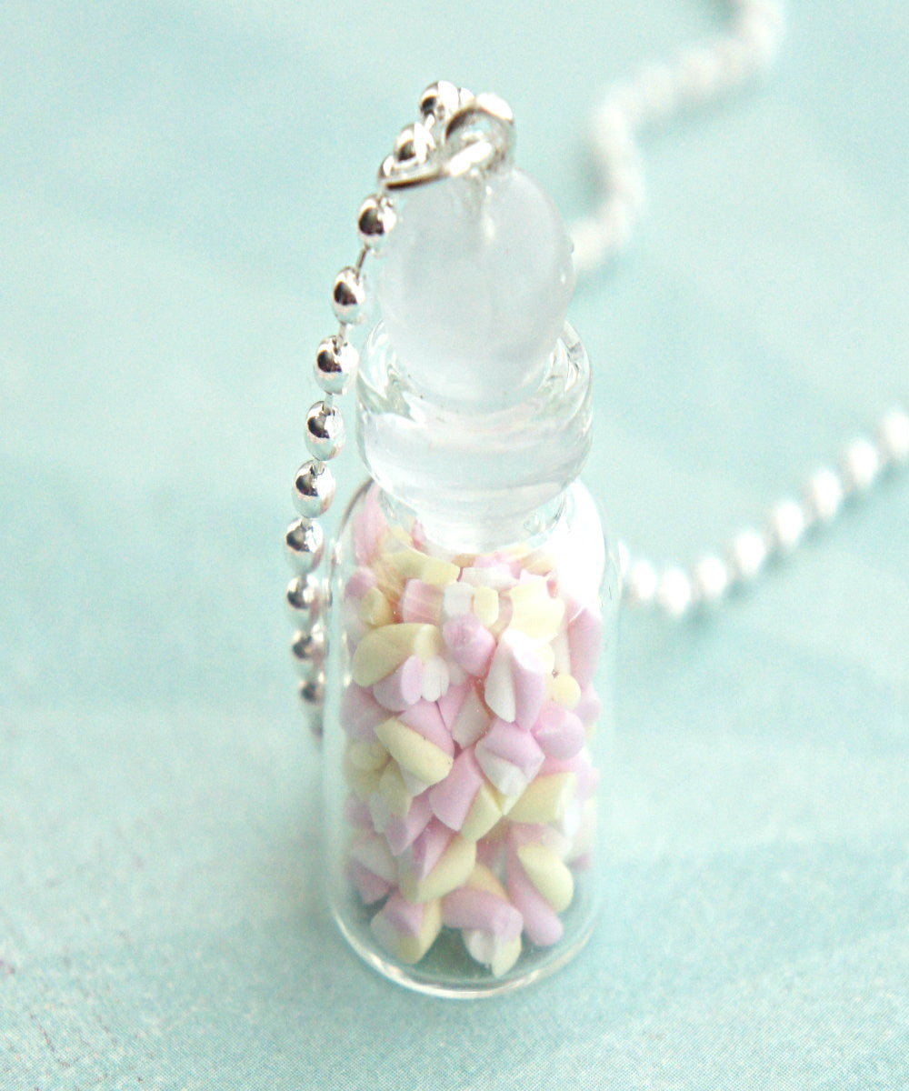 Marshmallow Bites in a Jar Necklace - Jillicious charms and accessories - 1
