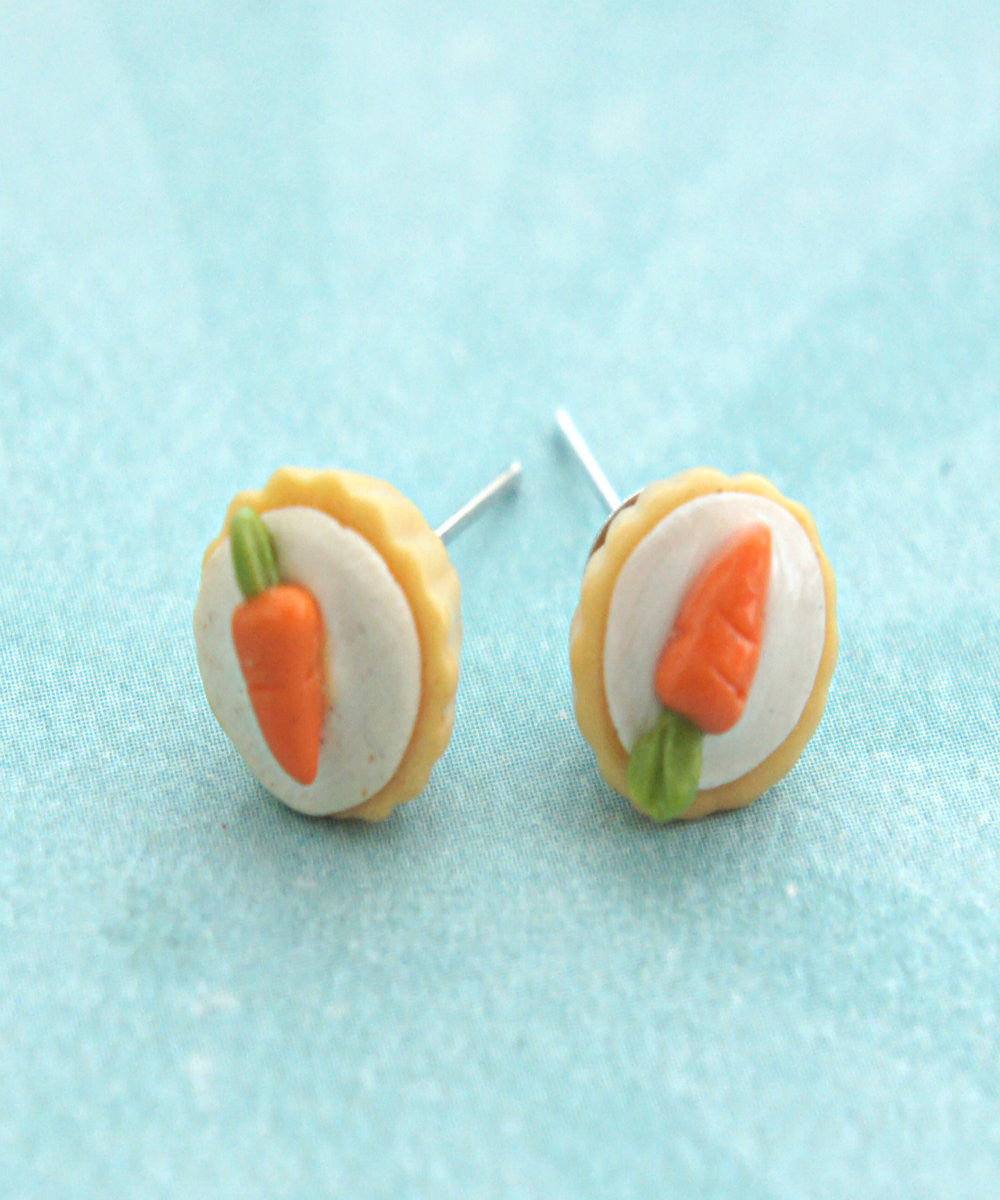 carrot cupcake stud earrings - Jillicious charms and accessories