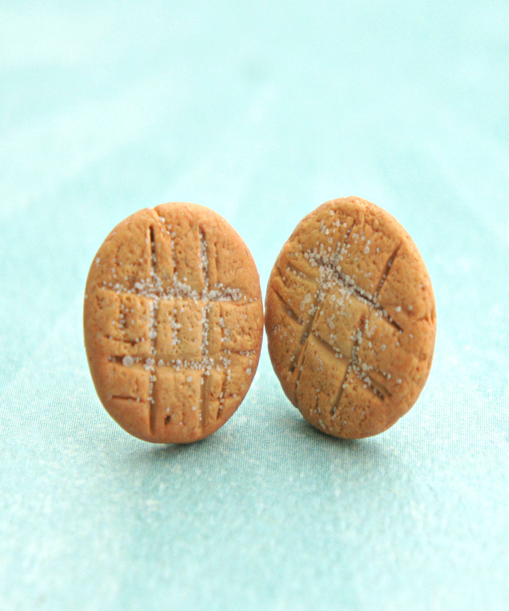 Peanut Butter Cookies Stud Earrings - Jillicious charms and accessories - 1