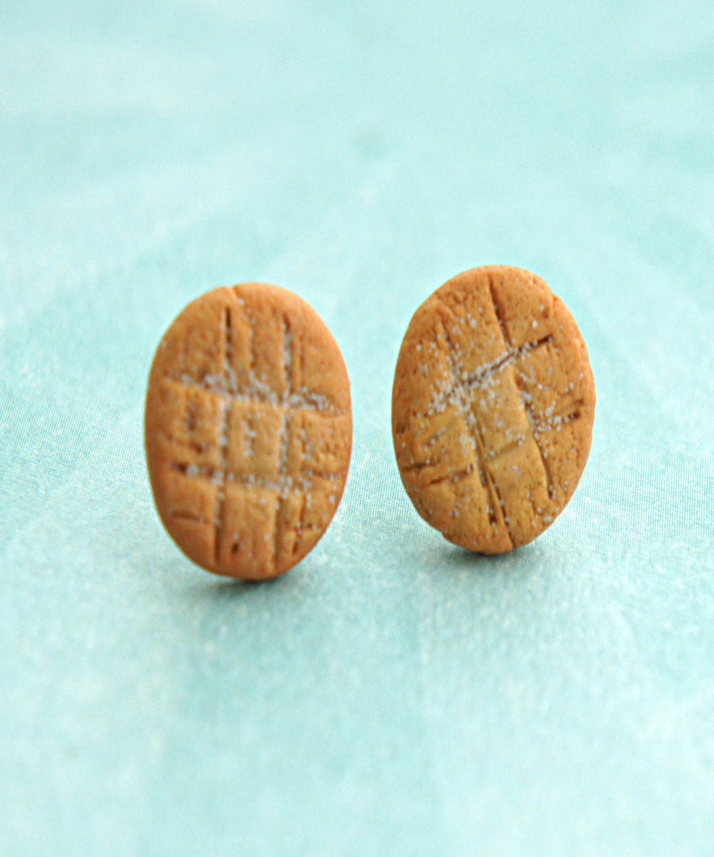 Peanut Butter Cookies Stud Earrings - Jillicious charms and accessories - 2