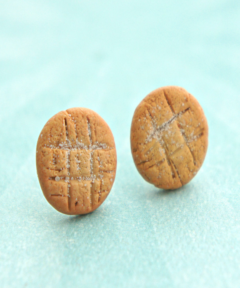 Peanut Butter Cookies Stud Earrings - Jillicious charms and accessories - 3