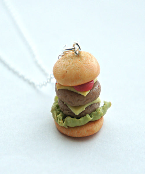 double cheeseburger necklace - Jillicious charms and accessories