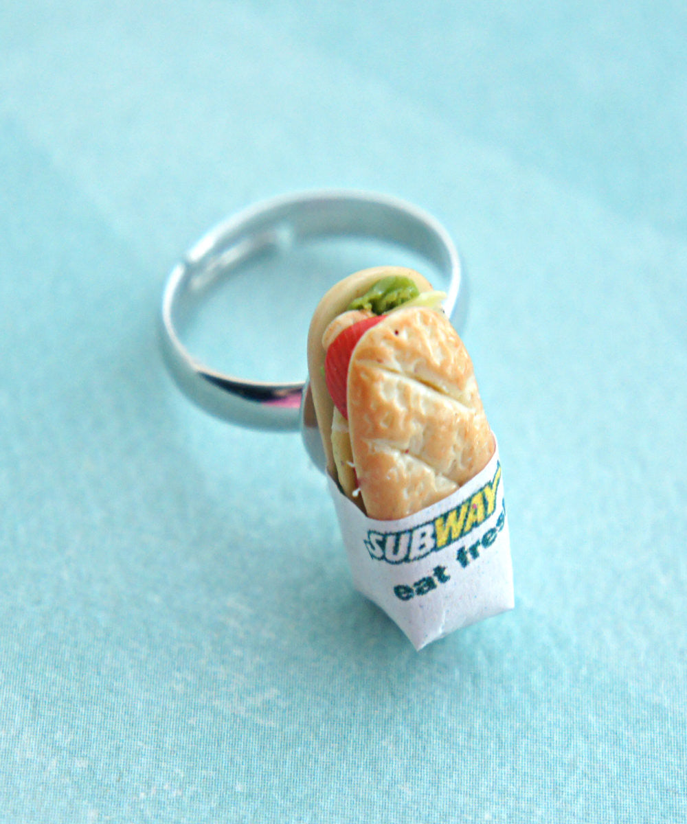 Subway Sandwich Ring - Jillicious charms and accessories - 3