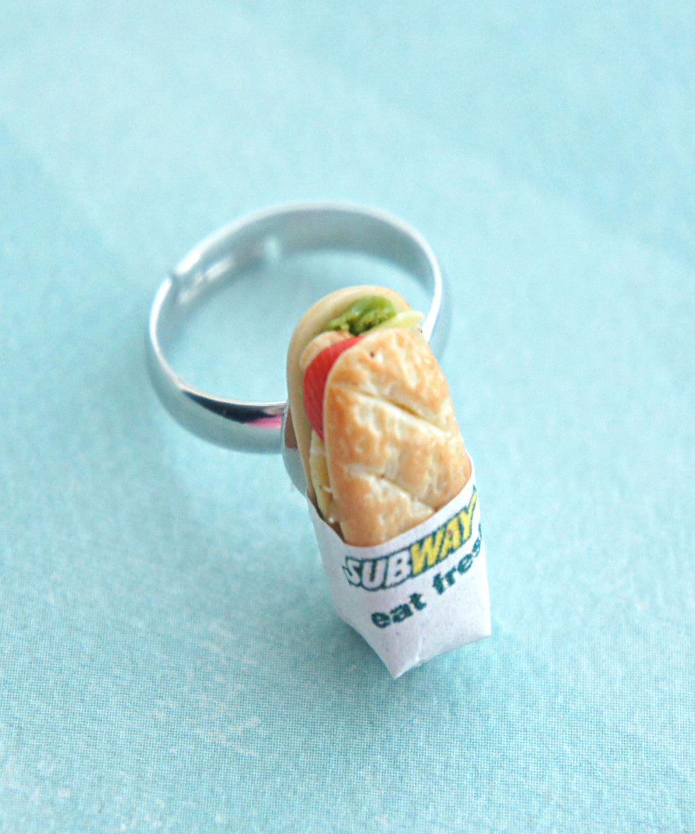 Subway Sandwich Ring - Jillicious charms and accessories